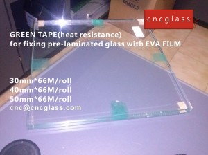 CNC GREEN TAPES perfectly prevent the melt EVA FILM overflowing (8)