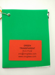 Green EVAVISION transparent EVA interlayer film for laminated safety glass (12)