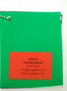 Green EVAVISION transparent EVA interlayer film for laminated safety glass (15)