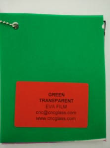 Green EVAVISION transparent EVA interlayer film for laminated safety glass (16)