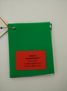 Green EVAVISION transparent EVA interlayer film for laminated safety glass (59)